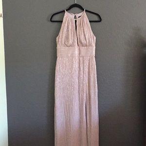 Metallic Blush Evening Gown